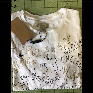 Burberry Brit designer new graffiti style shirt L